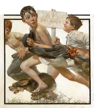 Norman_Rockwell-No-Swimming