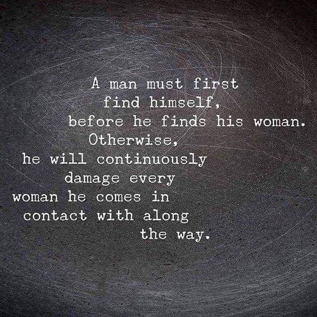 A man must first find himself