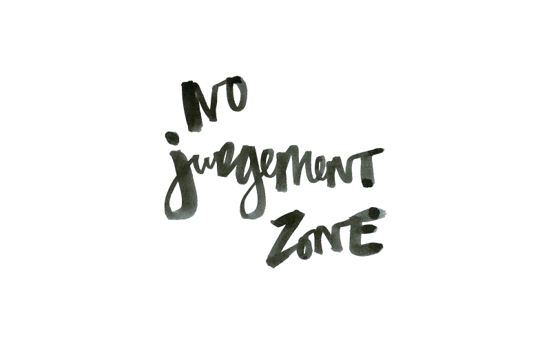 No-judgement-zone